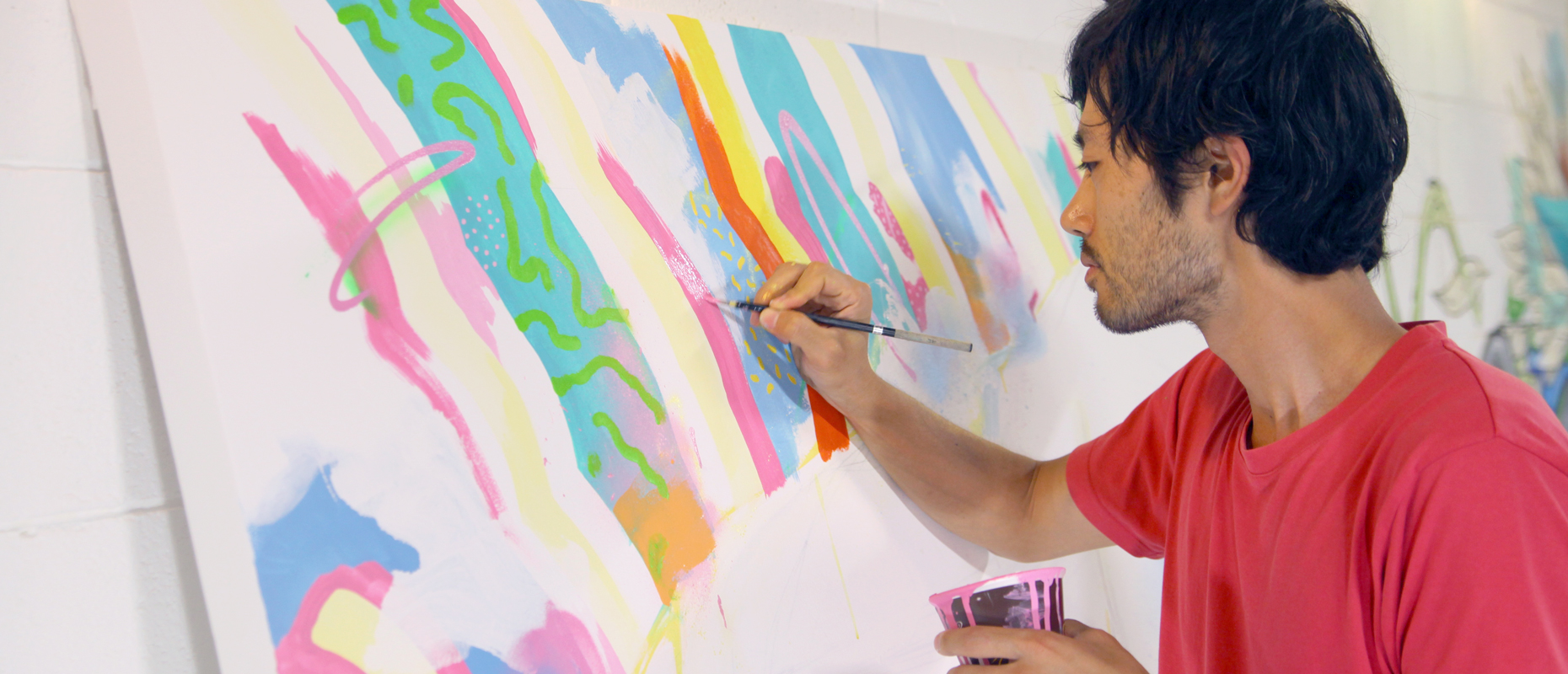 Yoh Nagao painting on canvas